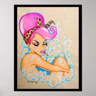 """Impresión del """"baño de burbujas"""" de Skinderella Póster"""