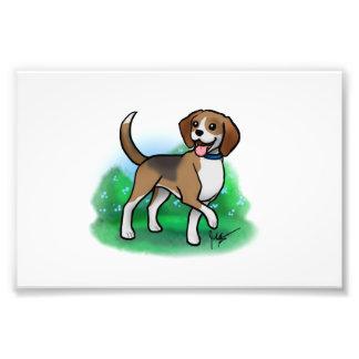 Impresión del beagle cojinete