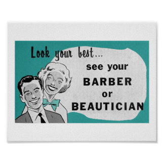 Impresión del Beautician del arte del salón de pel Poster