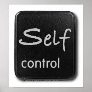 Impresión del botón del autodominio póster