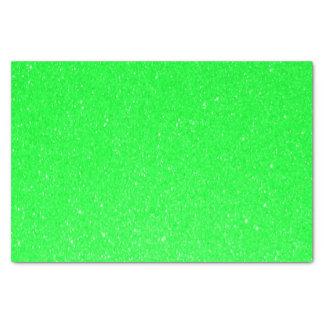 Impresión del brillo de la verde lima papel de seda pequeño