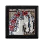 Impresión del caballo del carrusel cajas de joyas