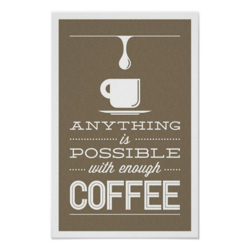 Impresión del café poster