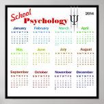 Impresión del calendario de la psicología de 2014  poster