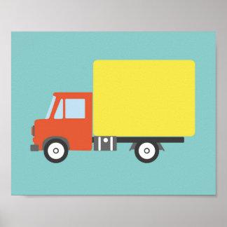 ¡Impresión del camión del cuarto de niños a la Póster