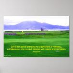 Impresión del campo de golf de Irlanda Poster