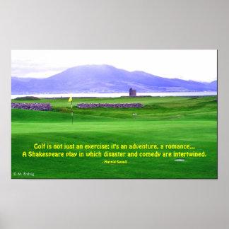 Impresión del campo de golf de Irlanda Póster