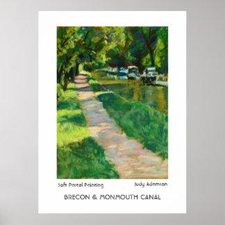 Impresión del canal de Brecon y de Monmouth/cartel Póster
