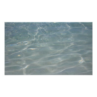 Impresión del Caribe del agua Poster