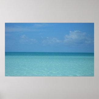 Impresión del Caribe del horizonte Póster