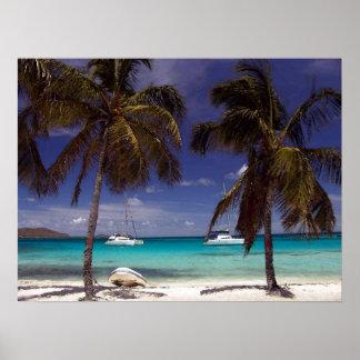 Impresión del Caribe del poster de la escena de la