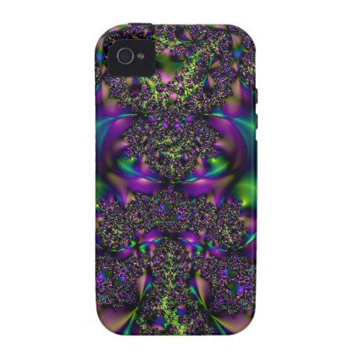 Impresión del carnaval del fractal Case-Mate iPhone 4 carcasa