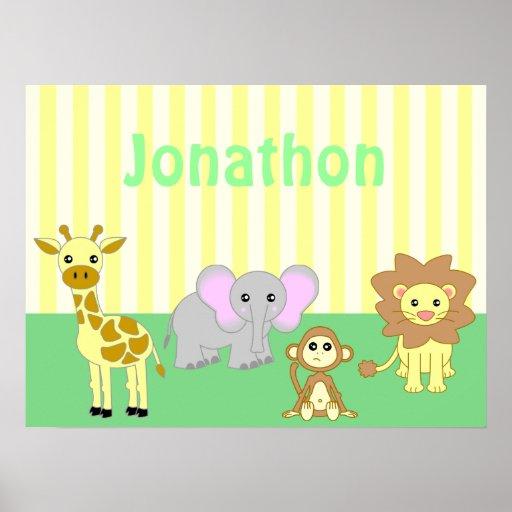 Impresión del cartel del cuarto de niños de los an poster
