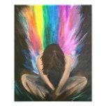 Impresión del chica del arco iris arte fotografico