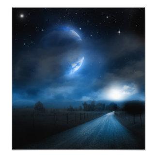 Impresión del claro de luna cojinete