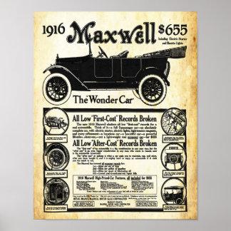 Impresión del coche de la maravilla del automóvil posters