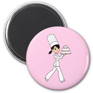 Impresión del cocinero del chica iman