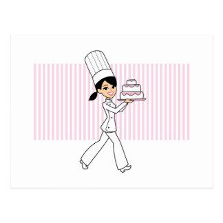 Impresión del cocinero del chica postales