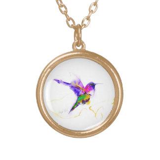 """Impresión del colibrí de la """"resplandor púrpura"""" colgante redondo"""