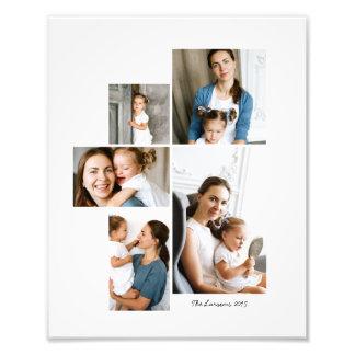 Impresión del collage de 5 fotos fotografías
