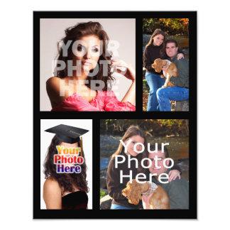 Impresión del collage de la foto, cuatro imágenes