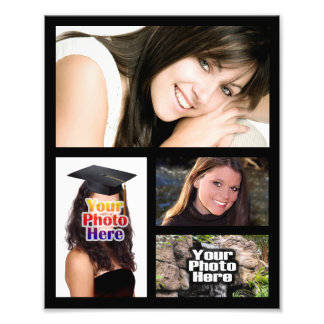 Impresión del collage de la foto cuatro imágenes