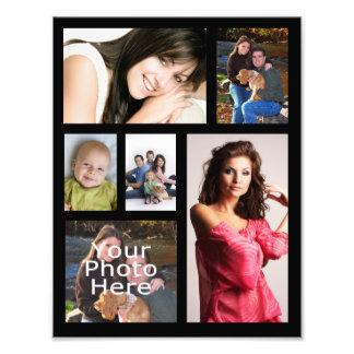 Impresión del collage de la foto, seis imágenes cojinete