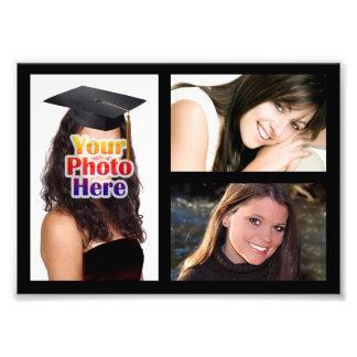 Impresión del collage de la foto, tres imágenes cojinete