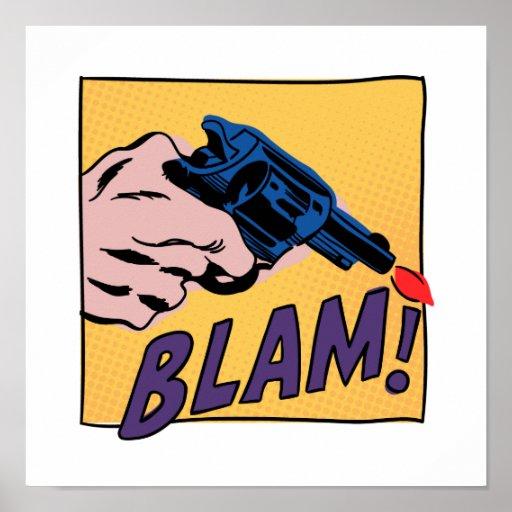 Impresión del cómic de Blam Póster