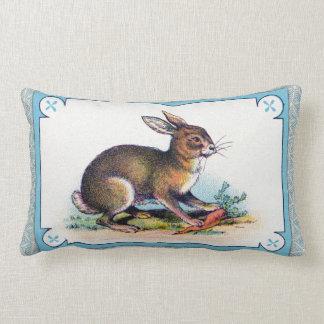 Impresión del conejo del vintage cojín