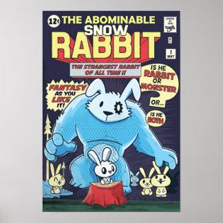 Impresión del conejo posters