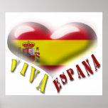 Impresión del corazón del escudo de armas de Viva  Poster