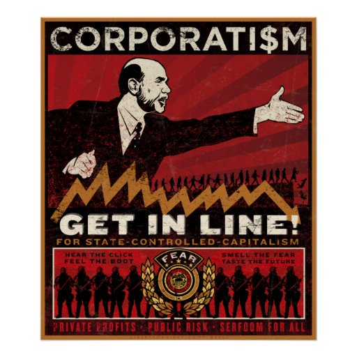 Impresión del corporatismo poster