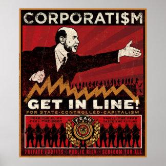 Impresión del corporatismo posters
