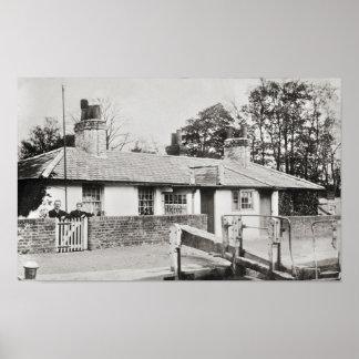 Impresión del cowley de la cabaña de la cerradura póster