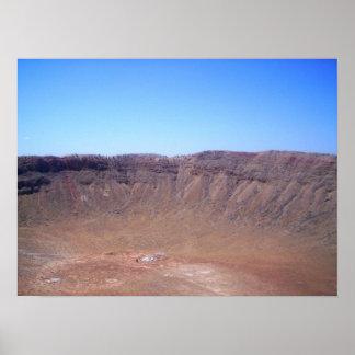 Impresión del cráter del meteorito de Arizona Poster