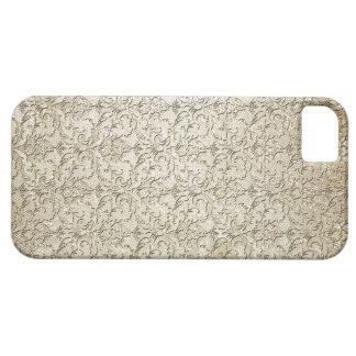 Impresión del damasco del brocado del vintage funda para iPhone SE/5/5s
