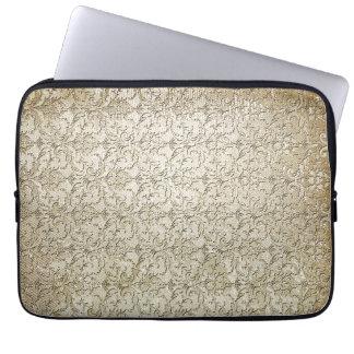 Impresión del damasco del brocado del vintage fundas computadoras