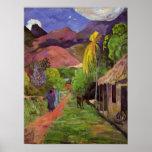 """""""Impresión del de Tahití"""" - Paul Gauguin de la Póster"""