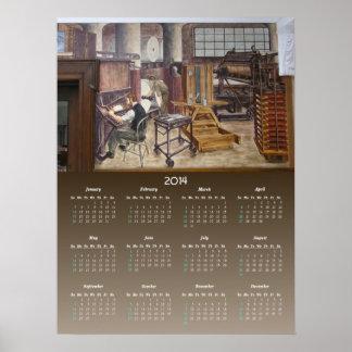Impresión del ~ del calendario de los murales 7 de posters