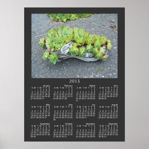 Impresión del ~ del calendario del envase que cult póster