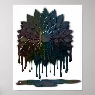 Impresión del derrame de petróleo póster