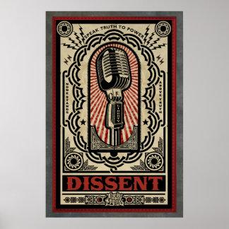 Impresión del desacuerdo póster