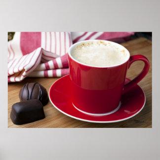 Impresión del descanso para tomar café poster
