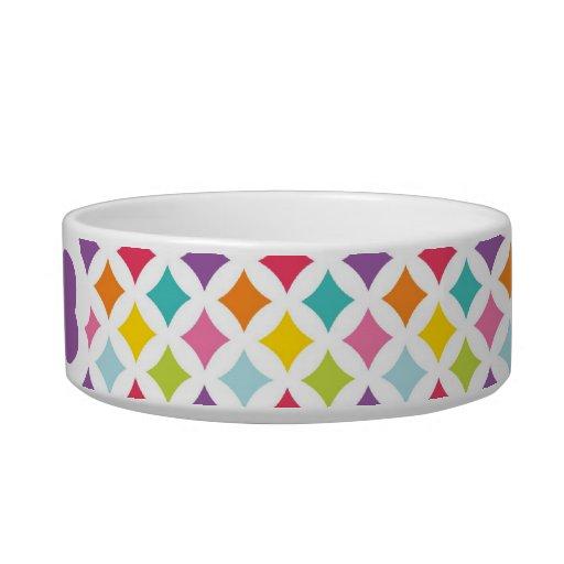 Impresión del diamante del arco iris personalizada boles para gatos