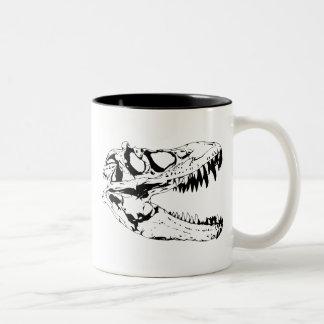impresión del dinosaurio tazas
