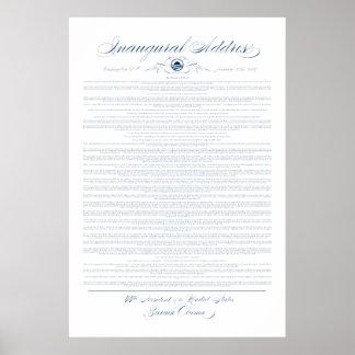 Impresión del discurso inaugural de presidente Oba Posters