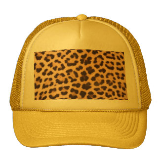 impresión del diseño de la piel del leopardo gorras