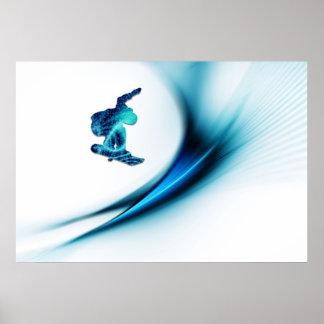 Impresión del diseño de la snowboard poster