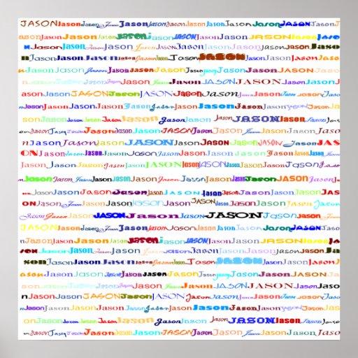 Impresión del diseño II del texto de Jason Poster